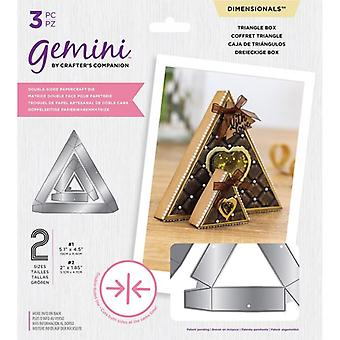 Gemini Double-Sided Dies Triangle Box