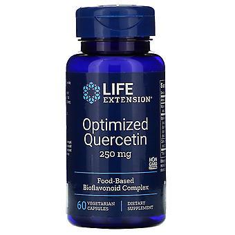 Prolongation de la durée de vie utile, Quercétine optimisée, 250 mg, 60 capsules végétariennes