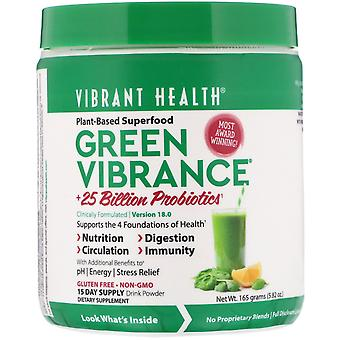Vibrant Health, Green Vibrance +25 Billion Probiotics, Version 18.0, 5.82 oz (16