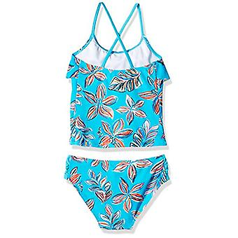 Kanu Surf Big Girls' Charlotte Flounce Tankini Beach Sport 2-Piece Costume da bagno, ...
