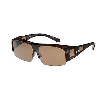 Sunglasses Women's Brown with Brown Lens VZ0033B