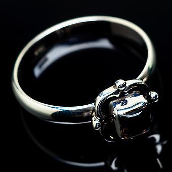Smoky Quartz 925 Ring Size 7.25 (925 Sterling Silver) - Handmade Boho Vintage Jewelry RING24622