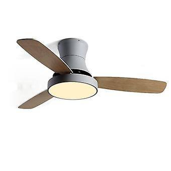 Celling Fan With Lamp For Dining Room Living Room  Wooden Type Simple Designed