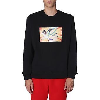 Msgm 2740mm1681957999 9 Herren's schwarze Baumwolle Sweatshirt