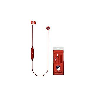 Bluetooth sports headphones with Microphone Atlético Madrid Red