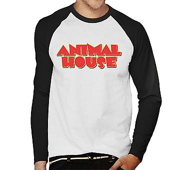 Animal House Red Logo Men's Baseball Long Sleeved T-Shirt