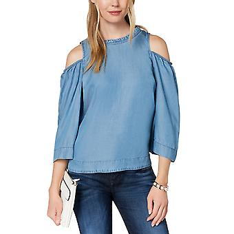 Maison Jules | Eclair Button Back Cold Shoulder Blouse