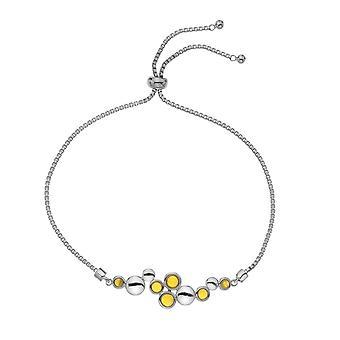 Emozioni Nettare Genuine Amber Silver Plated Bracelet EB075