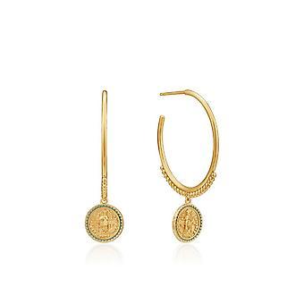 אניה האלה גולד דיגר הקיסר זהב מבריק חישוק עגילים E020-05G