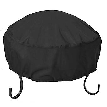 34x16 pulgadas impermeable, 210d Oxford Cloth, Heavy Duty Round Firepit Cover
