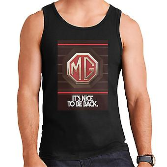 MG Its Nice To Be Back British Motor Heritage Men's Vest