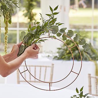 Hangende kroonluchter botanische bruiloft hoop x 3 bruiloft decor