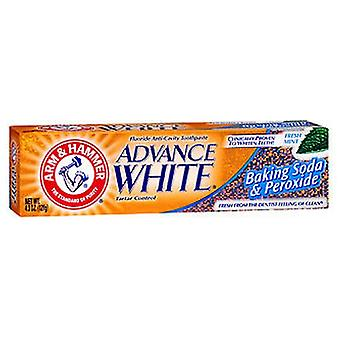Arm & Hammer Advance White Fluoride Toothpaste, Baking Soda And Peroxide 4.3 oz