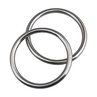 2 Pieces 7x70mm 304 Stainless Steel Ring O Round Hook for Hammock