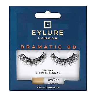 Eylure Dramatic 3d False Eyelashes - No.193 (adhesive Included)