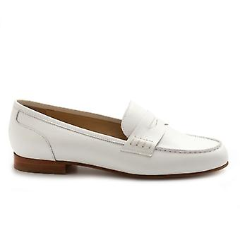 Moccasic Luca Grossi White In Soft Leather