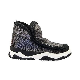 Mou Eskimotrainerspbk Women's Black Leather Ankle Boots