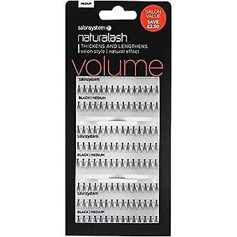 Salon System  Naturalash - Volume - Black Medium - Reusable Eyelashes - Salon Value