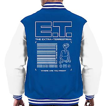 E.T. The Extra Terrestrial Where Are You From Men's Varsity Jacket