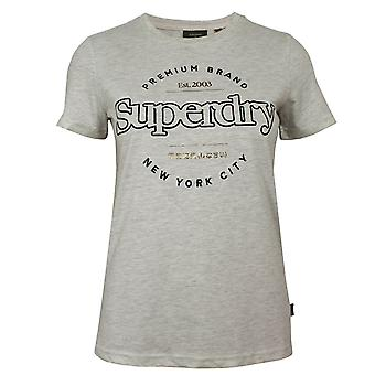 Superdry women's oatmeal marl stabilito t-shirt