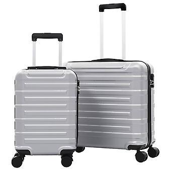 Hard Shell Trolley Set 2 pcs. Silver ABS