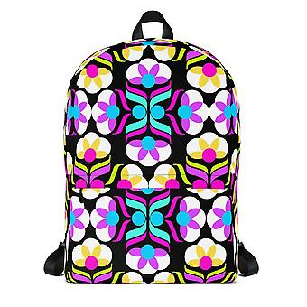 Floral Print Waterproof Backpack