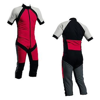 Skydiving summer suit red-silver-charcoal s2-04