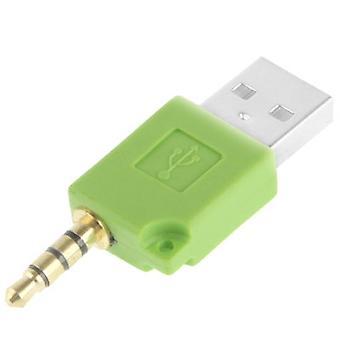 USB-data Dock Laddare Adapter, För iPod shuffle 3rd / 2nd, Längd: 4.6cm(Grön)