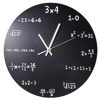 Mathematics Blackboard Pop Quiz Clock
