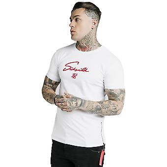 SikSilk Signature Flock T-Shirt - White