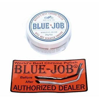 Blue Job Exhaust Chrome Polish for Harley Davidson Cruisers 28gr 1oz Tub