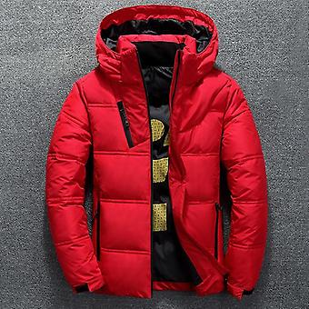 الشتاء الدافئ الرجال سترة معطف الخريف عارضة الوقوف طوق منفاخ سميكة قبعة بطة