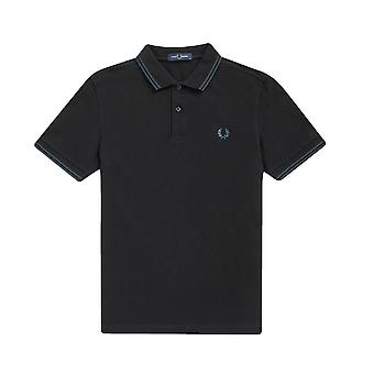 Polo Fred Perry Twin Tipped Fred Perry Camiseta Negra