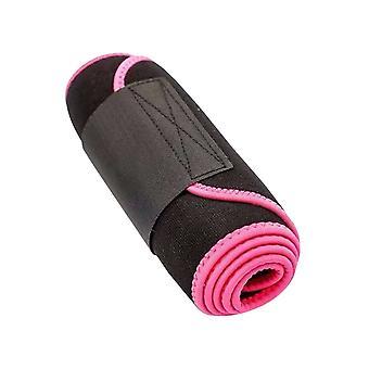S Pink Sport Fitness Waistband Desigh Back Supporter Waist Trimmer Belt