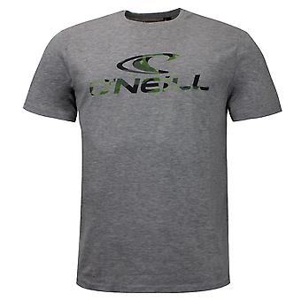 O'Neill Mens Photoprint T-Shirt Lifestyle Short Sleeve Casual Grey Top 7A3766