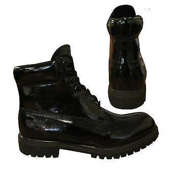 Timberland 6 Zoll Premium schwarz Patient Leder Schnürung Herren Stiefel A174F B99E