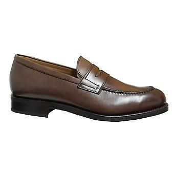 Hackett London Forest Brown Leather Slip On Mens Loafers Shoes HMS20541 878