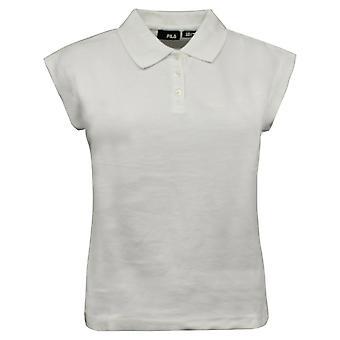 Fila נשים שרוול קצר פולו חולצת טריקו העליון מזדמנים טי לבן U86498 100 RW117