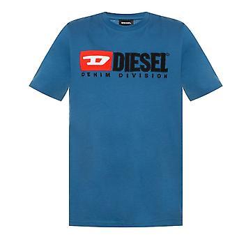 Diesel T-Diego-Division Logo Blau T-Shirt