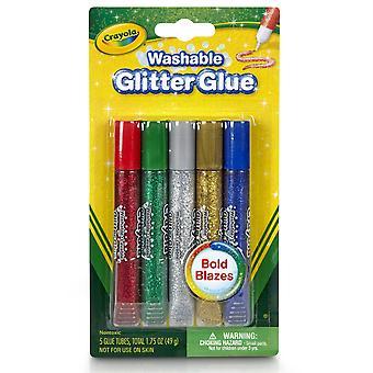 Colle à paillettes lavable Crayola, Bold, 5/Pkg