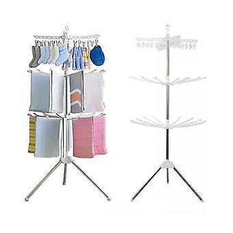 wasdroger staand - 2 niveaus - 32 uitklapbare hangers