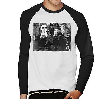 The Invisible Man And Flora Cranley Men's Baseball Long Sleeved T-Shirt
