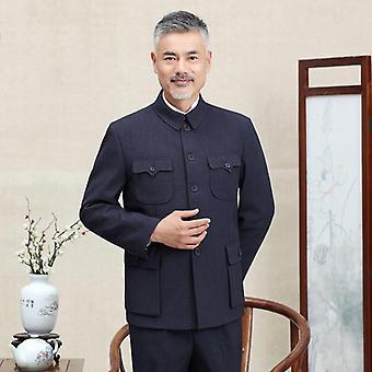 Traditional Chinese Tang, Knitting Pockets Top, Blazer Jacket