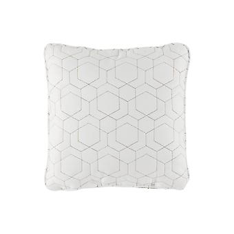 18 X 18 Polyester Accent Pillow With Geometric Print, Set Of 4, White