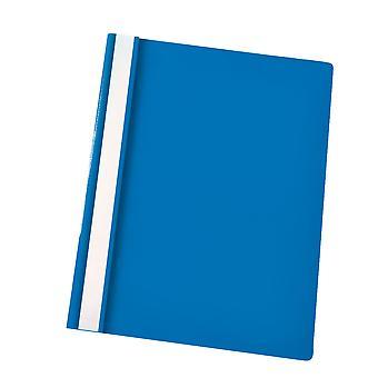 Rapid Flat File Polypropylene A4 Blue Pack of 25