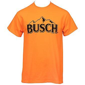 Busch Hunter Orange Mountain Logo T-paita