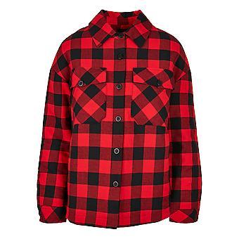 Urban Classics Women's Long Sleeve Shirt Flannel Padded Overshirt