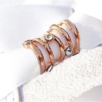 Розовое золото небольшой водоворот обуви Шарм