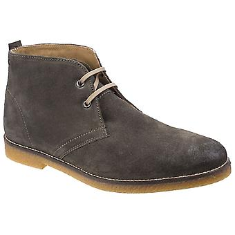 Base Perry Mens Leather Desert Boots Olive UK Size