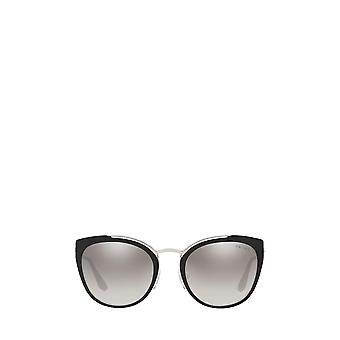 Prada PR 20US silver / black / ivory female sunglasses